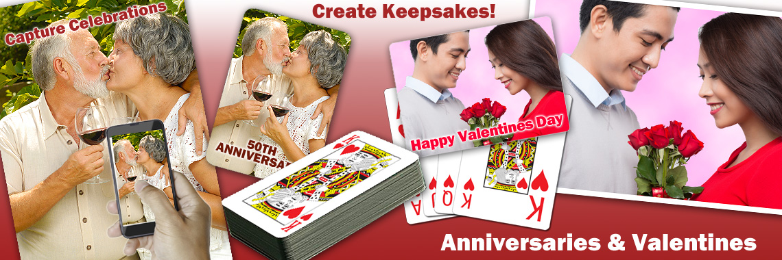 Anniversary & Valentines Playing Cards