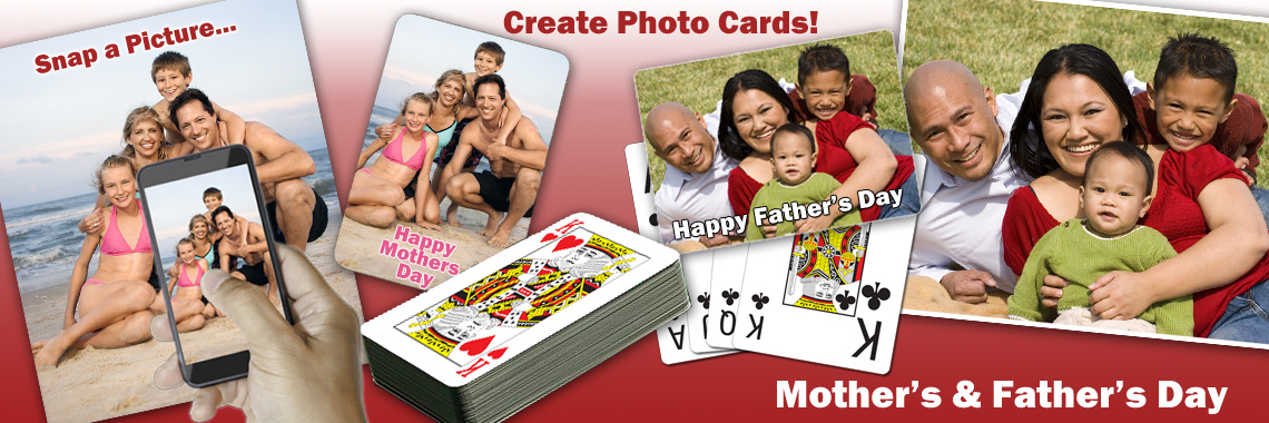 Mother's Day and Father's Day Playing Cards