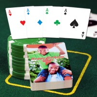 4 Color 'No Revoke' Personalized Playing Cards
