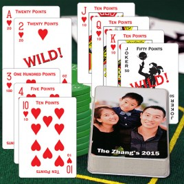 Canasta Personalized Playing Cards - Takes 2 Decks to Play