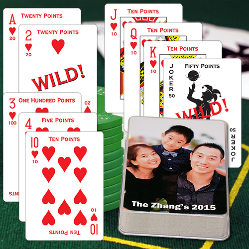 Canasta Custom Photo Playing Cards