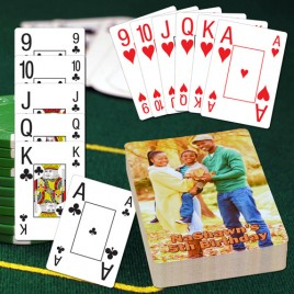 JUMBO Pinochle Personalized Playing Cards