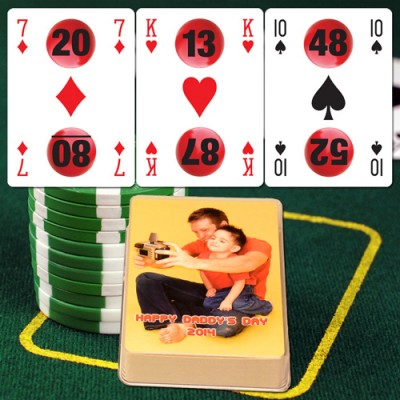 Lotto Lucky Personalized Playing Cards