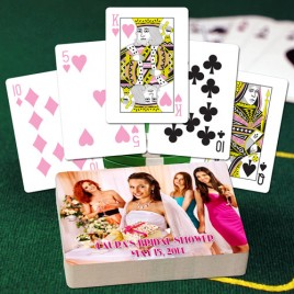 Pink Poker Personalized Playing Cards