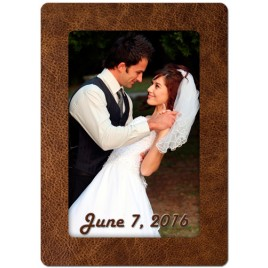 Brown Leather Theme Personalized Playing Cards