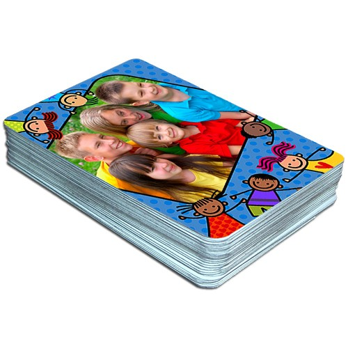 happy kids children u0026 39 s custom photo playing cards