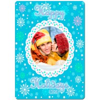 Holiday Snowflakes Theme Personalized Playing Cards