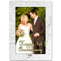 Rustic White Theme Personalized Playing Cards
